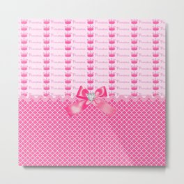 Fancy Pink Princess Crowns Metal Print