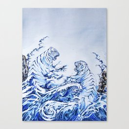 The Crashing Waves Canvas Print