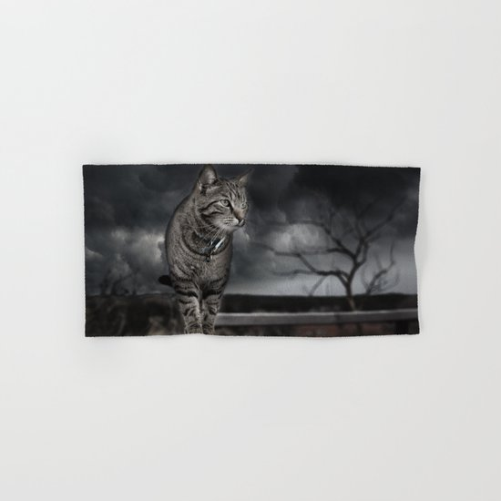 Cat on the Prowl  Hand & Bath Towel