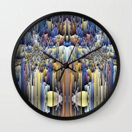 abstract rain 6 Wall Clock