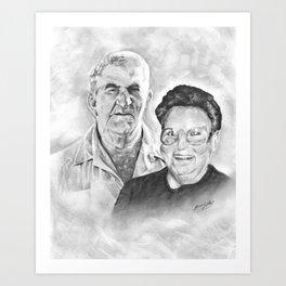 S.E. & Hazel Art Print