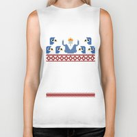 minions Biker Tanks featuring Ice King and Minions by paperboyjim