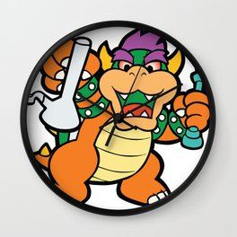 Dabbed Out Bowser Wall Clock