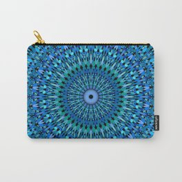 Blue and Green Stone Garden Mandala Carry-All Pouch