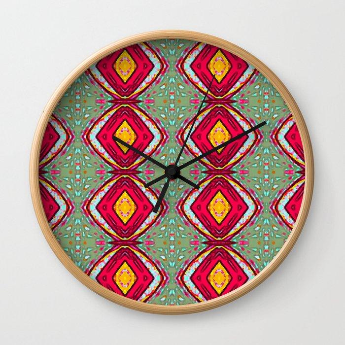 Diamonds energy Wall Clock