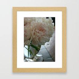Pink Peonies in Vase Framed Art Print