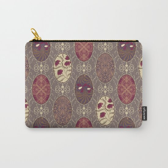 Patchwork seamless floral abstract pattern texture background Carry-All Pouch