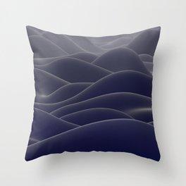 Blue ocean of wax Throw Pillow