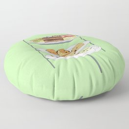 English Afternoon Tea Cakes Floor Pillow