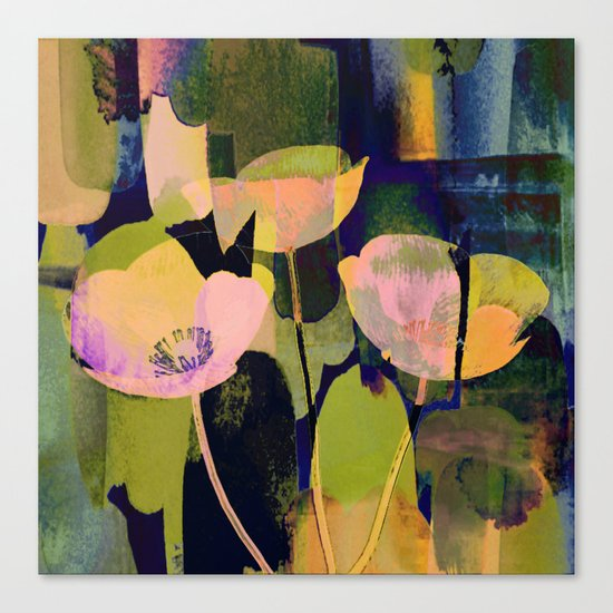 3 abstract flowers  https://society6.com/clemm?promo=X9B3VVZDM7J6 Canvas Print
