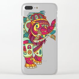 Mammoth, cool wall art for kids and adults alike Clear iPhone Case