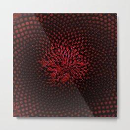 Red Sunflower Portrait by Jeanpaul Ferro Metal Print