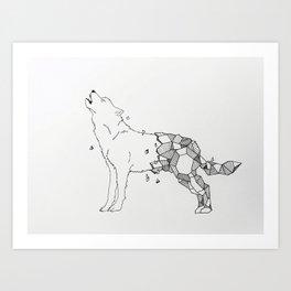 Wolf Breaking Free Art Print