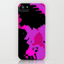 Fuchsia and black abstract iPhone Case