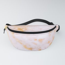 Gold Marble - Shimmery Glittery Pink Gold Marble Metallic Fanny Pack