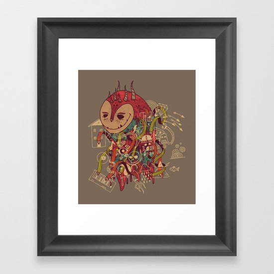 The Doodler Framed Art Print