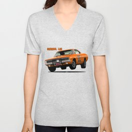 General Lee Dodge Charger Unisex V-Neck