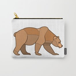 Shapely Brown Bear Carry-All Pouch