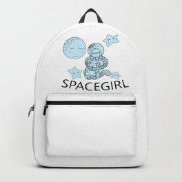 Space Girl Astronaut Holding Teddy Bear Backpack