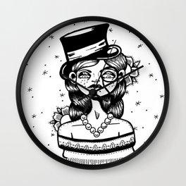 Top Hat Girl Wall Clock