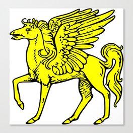 Pegasus shield 1. Canvas Print