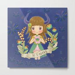 TAURUS my cute horoscope Metal Print