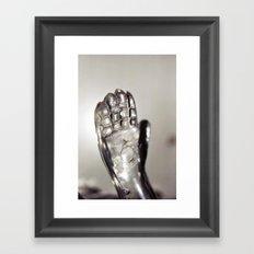 Transparent Gesture Framed Art Print