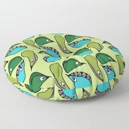Green Dive-Plongeon vers- birds 2 Floor Pillow