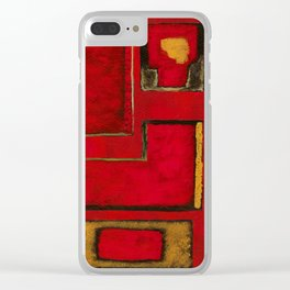 Detached, Abstract Shapes Art Clear iPhone Case