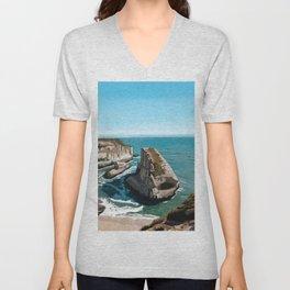 Californian Ocean Landscape  Unisex V-Neck