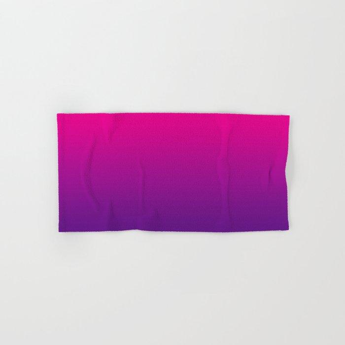 Neon Pink Purple Ultra Violet Pattern Hand & Bath Towel