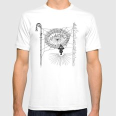 Peter's Web Mens Fitted Tee White MEDIUM