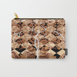 Tree of Life and Birds Indian Pattern Carry-All Pouch