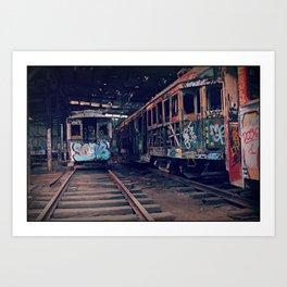 Trams #2 Art Print