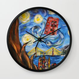 Starry In San Francisco Wall Clock
