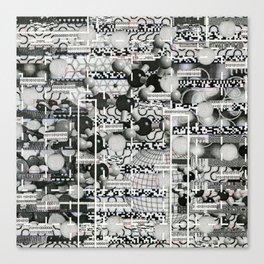 Divergence Toward Chaotic Attractors (P/D3 Glitch Collage Studies) Canvas Print
