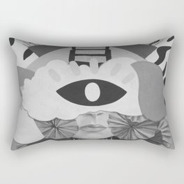 What is Art? (Black and White) Rectangular Pillow