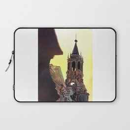 Watercolor painting of the Cathedral on the Plaza de Armas in Arequipa, Peru. Laptop Sleeve