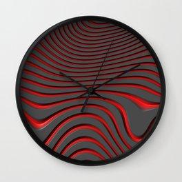 Organic Abstract 02 RED Wall Clock