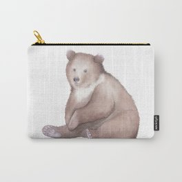 Bear Watercolor Carry-All Pouch