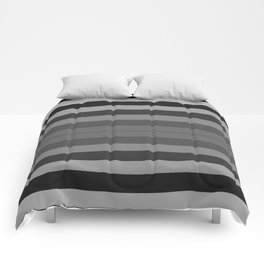 Black and Gray Stripes Comforters