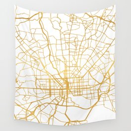 BALTIMORE MARYLAND CITY STREET MAP ART Wall Tapestry
