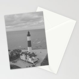 Black and White Lighthouse Stationery Cards