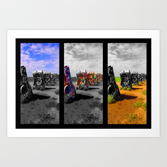 Amarillo Pop Art Print