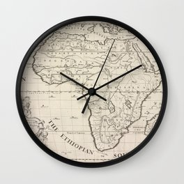 A new map of Africk shewing its present general divisions, chief cities or towns, rivers, mountains &c.Additional Present Africk Wall Clock