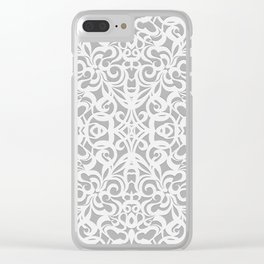 Floral Abstract Damasks G17 Clear iPhone Case