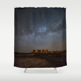 Across the Universe - Milky Way Galaxy Above Mesa in Arizona Shower Curtain