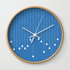 Vieille lune de Bilbao Wall Clock