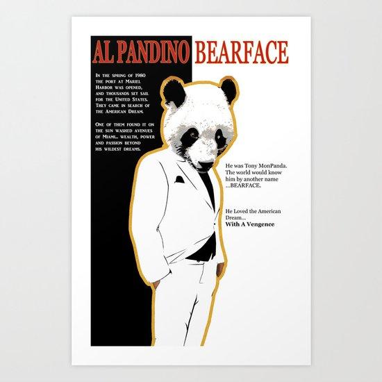 Tony MonPanda - Bearface Art Print