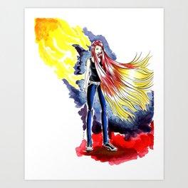 Cherry Blonde Heroine Art Print